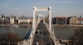Puente de Erzsébet Imagen de archivo libre de regalías