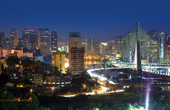 Puente de Estaiada - Sao Paulo Imagenes de archivo