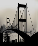 Puente de Estambul Imagen de archivo libre de regalías