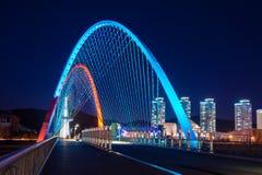 Puente de Expro en la noche en Daejeon foto de archivo