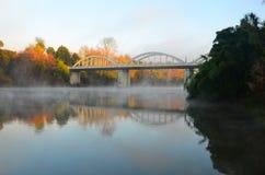 Puente de Fairfield, Hamilton, Waikato, Nueva Zelanda Imagen de archivo libre de regalías