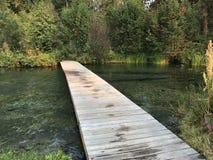 Puente de flotación Fotos de archivo