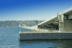 Puente de flotación de la carretera 90 Imagen de archivo libre de regalías