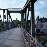 puente de Francfort Imágenes de archivo libres de regalías
