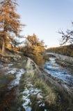 Puente de Gairnshiel en Glen Gairn en las montañas de Escocia Imagen de archivo libre de regalías