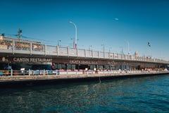 Puente de Galata fotos de archivo libres de regalías