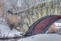 Puente de Gapstow, Central Park, NYC imágenes de archivo libres de regalías
