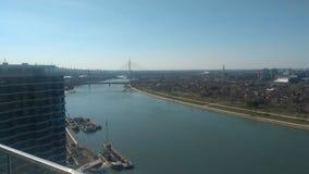 Puente de Gazela en el Sava fotos de archivo