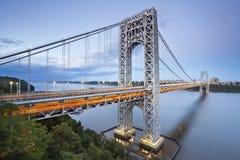 Puente de George Washington, Nueva York. Imagen de archivo libre de regalías