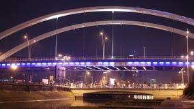 Puente de Grozavesti, Bucarest almacen de metraje de vídeo