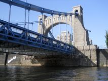 Puente de Grunwaldzki en el Wroclaw Fotografía de archivo libre de regalías