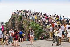 Puente de Guangji del Gran Canal de Hangzhou fotografía de archivo libre de regalías