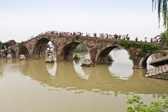 Puente de Guangji del Gran Canal de Hangzhou fotos de archivo libres de regalías