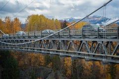 Puente de Hagwilget en caída fotografía de archivo