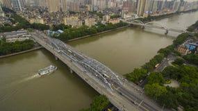 Puente de Haizhu foto de archivo