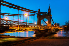 Puente de Hammersmith en Londres, Inglaterra Fotografía de archivo libre de regalías