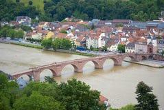 Puente de Heidelberg Fotos de archivo libres de regalías
