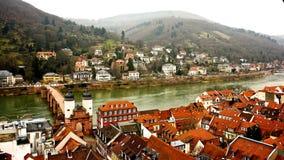 Puente de Heidelberg en Alemania Foto de archivo libre de regalías