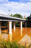 Puente de Hierro  over Ebro  in sunny day. Logrono Stock Photos