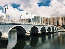 Puente de Hong Kong Shatin Fotografía de archivo libre de regalías