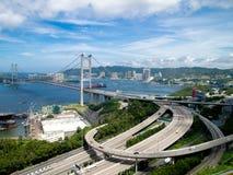 Puente de Hong-Kong Tsing mA Foto de archivo