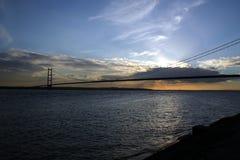 Puente de Humber de la batería del norte del río. Foto de archivo