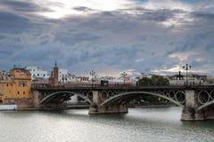 The Puente de Isabel II in Seville Stock Image