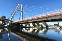 Puente de Jagiello en Bydgoszcz - el río de Brda Imagenes de archivo