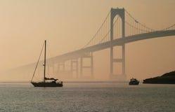 Puente de Jamestown Verrazano, RI imagen de archivo