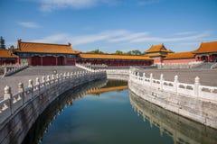 Puente de Jinshui del museo de palacio nacional de Pekín Fotos de archivo libres de regalías