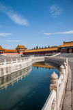 Puente de Jinshui del museo de palacio nacional de Pekín Foto de archivo