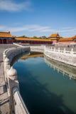 Puente de Jinshui del museo de palacio nacional de Pekín Fotografía de archivo libre de regalías