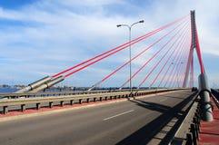 Puente de John Paul Ii en Gdansk Imagen de archivo libre de regalías
