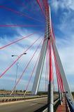 Puente de John Paul Ii en Gdansk Fotografía de archivo libre de regalías