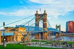 Puente de John Roebling Imagenes de archivo