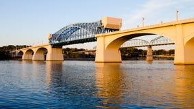 Puente de Juan Ross en Chattanooga fotografía de archivo libre de regalías