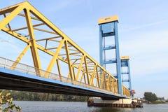 Puente de Kattwyk en Hamburgo fotos de archivo