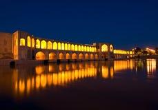 Puente de Khajoo Foto de archivo libre de regalías