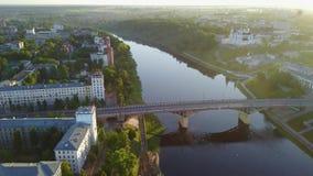 Puente de Kirovsky a través del río occidental de Dvina