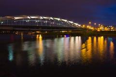 Puente de Kotlarski, Kraków, Polonia Foto de archivo