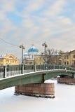 Puente de Krasnoarmeisky sobre Fontanka, Foto de archivo libre de regalías