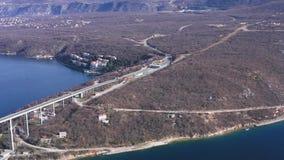 Puente de Krk almacen de metraje de vídeo