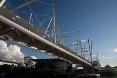 Puente de Kurilpa de la batería del norte Imagen de archivo