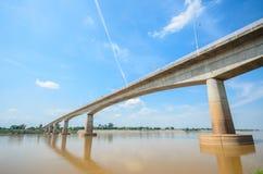 Puente de la amistad del Tailandés-Lao Fotos de archivo libres de regalías