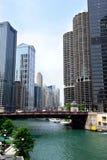 Puente de la avenida de Wabash en Chicago Imágenes de archivo libres de regalías