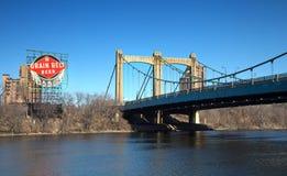Puente de la avenida de Hennepin en Minneapolis Foto de archivo libre de regalías