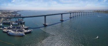 Puente de la bahía de Coronado panorámico Imagen de archivo