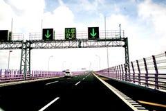 Puente de la bahía de Hangzhou de China Imagenes de archivo