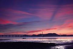 Puente de la bahía de ShenZhen (Hong-Kong) Fotos de archivo libres de regalías