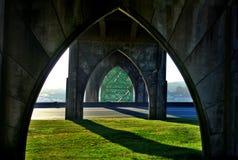 Puente de la bahía de Yaquina Imagen de archivo